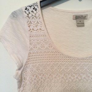 Lucky Brand | BoHo Crochet T-shirt